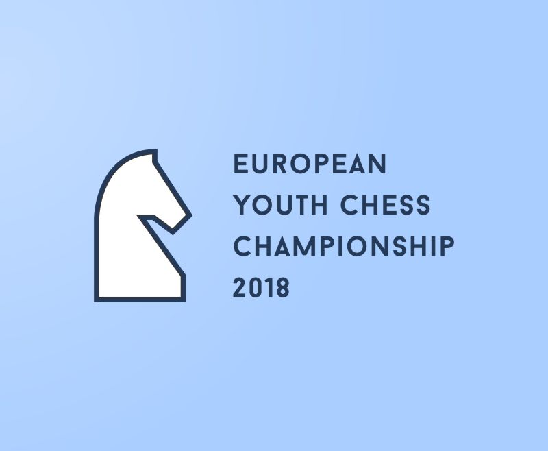 European Youth Chess Championship 2018 logo cover design