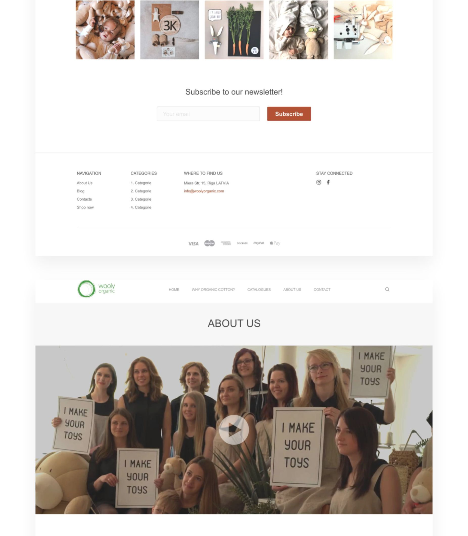 Wooly Organic BigCommerce online shop design and development - website portfolio