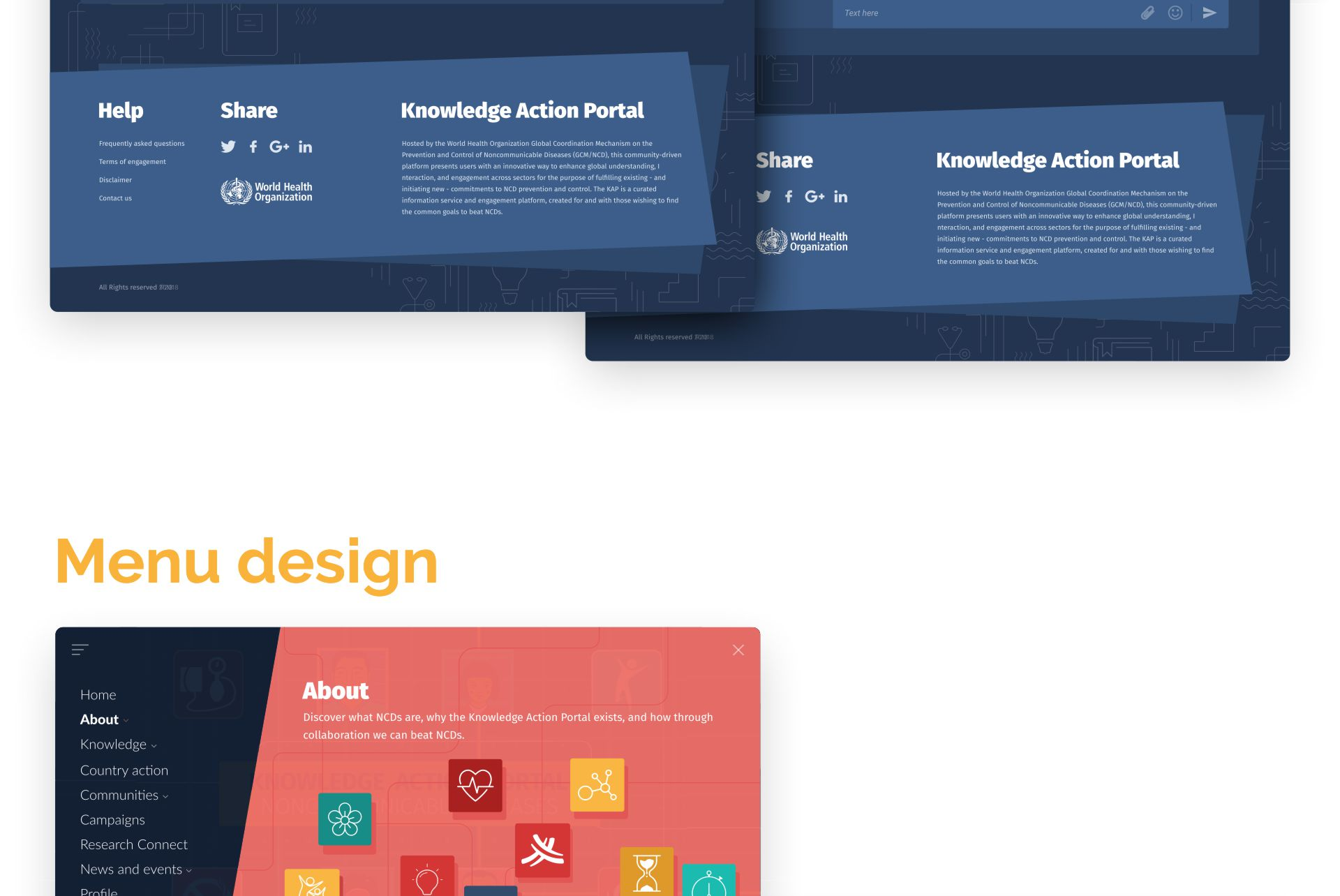 Knowledge Action Portal - website design and development