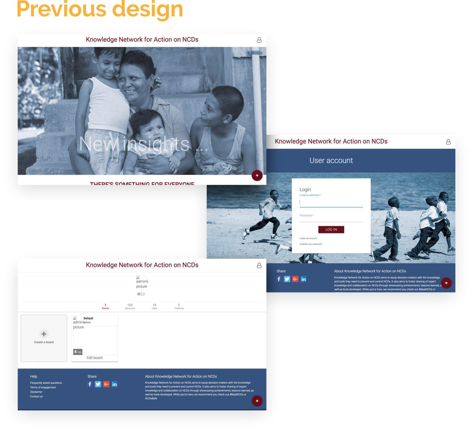 Knowledge Action Portal website design and development - portfolio
