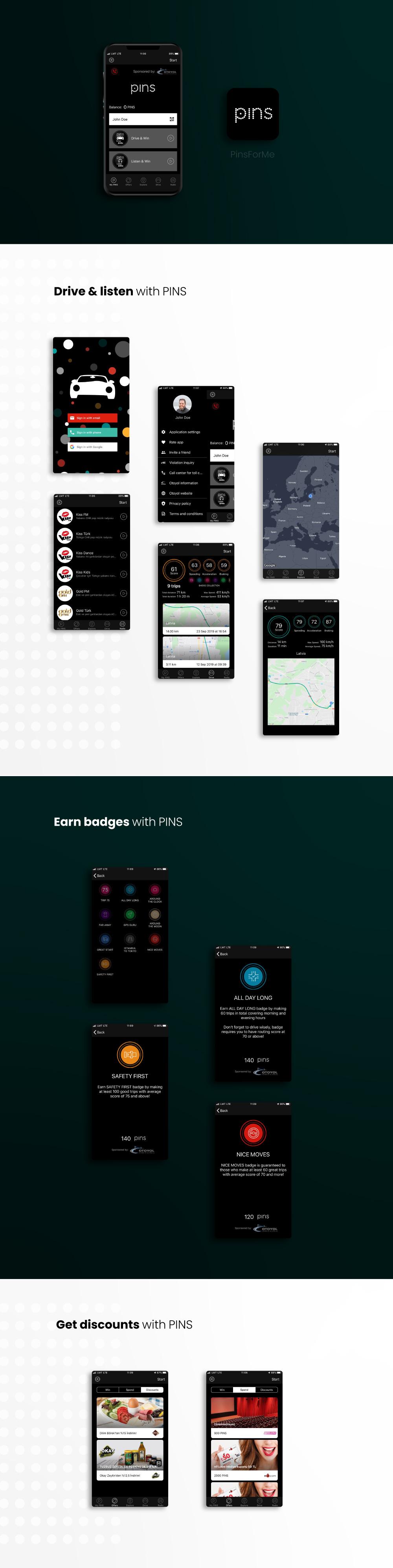 PINS for me Mobile App development - portfolio